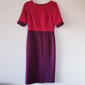 Maggy London color block half sleeve dress sz 6